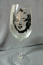Hand Painted Marilyn Monroe Wine Glass Gift Collector Sexy Christmas Present