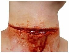 Slashed Throat Liquid Latex Set Hollywood FX Special Effects Halloween Make Up