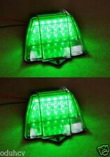2x Front Green Side Marker Roof Corner LED Light Truck Lorry Trailer for MAN DAF
