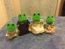 Sylvanian Families Vintage 1990s TOMY BULLRUSH FROGS FAMILY OF FOUR
