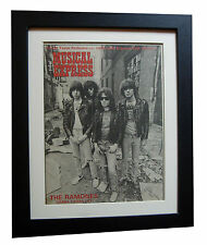 RAMONES+NME 1977+POSTER+AD+FRAMED+ORIGINAL+VINTAGE+RARE+EXPRESS GLOBAL SHIPPING