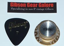 Gibson Les Paul Knob Single Gold V Top Hat Guitar Parts R9 SG Custom ES R8 HP R0