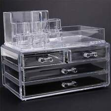 Hot Makeup Cosmetics Organizer Clear Acrylic Drawers 4 Grids Display Box Storage