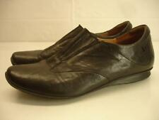 womens 8 8.5 sz 39 Think! Chilli black leather shoes ballet flat loafers comfort