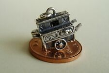 LOVELY ' BARREL ORGAN / MONKEY  ' OPENING STERLING SILVER CHARM