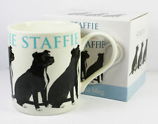 Staffie Black Dog Pet Fine China Mug Kitchen Cup Accessory Tea Coffee Hot NEW