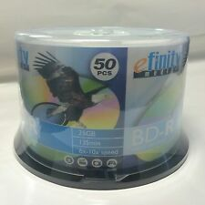 50 efinity 6x-10x speed White Inkjet Printable Blu-Ray BD-R Blank Disc 25GB
