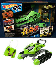 New - Hot Wheels TERRAIN TWISTER R/C - GREEN Radio Control LAND Water SNOW 27MHz
