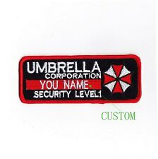Custom name tapes Resident Evil Umbrella Corporation Badges Patch B1989