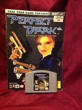 Perfect Dark - N64 - with Official Strategy Guide (with Poster!) Tested!