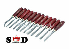 12Pc Wood Carving Chisel Set Gouge Chisels Quality Parting Tools Steel CT0055