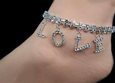 Dangle Love Rhinestone Adjustable Anklet Gorgeous & Sexy Double Row of Sparkle