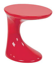 Office Star Slick Side Table with High Gloss Red Finish by Ave Six SLKST-9 Table