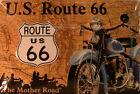 U.S. ROUTE 66 - USA - ROAD - BIKE - NOSTALGIE - BLECHSCHILD 20 X 30 CM (28)
