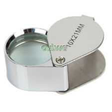 10x 21mm Glass Magnifying Magnifier Jeweler Eye Jewelry Loupe Loop Light