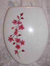 HAND PAINTED MAGNOLIA TOILET SEAT/CHOOSE COLOR/STANDARD