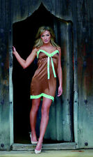 Gorgeous Chocolate and Mint Nightie - 100% Silk, Size Medium) UK12-14    - NWT