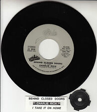 "CHARLIE RICH  Behind Closed Doors 7"" 45 rpm record + juke box title strip NEW"