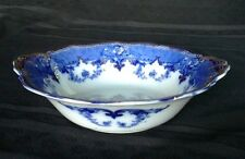 Ridgeway Antique Flow Blue Verona Open Vegetable Bowl Semi Porcelain Engl 1   D4