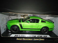 Shelby Collectibles Ford Mustang Boss 302 2013 Green 1/18