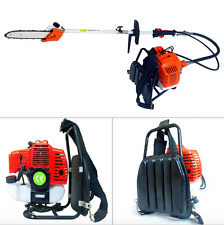 Backpack 43cc Long Reach Pole Petrol Chain Saw Brush Tree Cutter Pruner