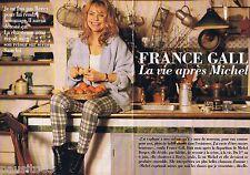 COUPURE DE PRESSE CLIPPING 1993 France Gall     (6 pages)  la vie après Michel