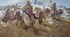 Frank McCarthy, BY THE ANCIENT TRAILS THEY PASSED, Artist Proof, Petroglyph