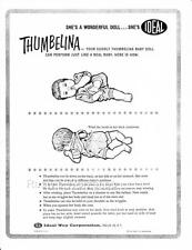 1961 THUMBELINA doll by Ideal Operating  INSTRUCTIONS (Reproduction)