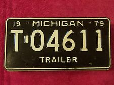 T 04611 = 1979 Michigan Trailer license plate   Additional items ship FREE IN US