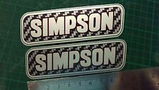 Simpson Decal Sticker x2 Moto GP laptop helmet bike car scooter Silver & Carbon