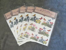 5 PACKS EVERYDAY MEMORIES RUB ON TRANSFER, BUTTERFLYS & FLOWERS EMBELLISHMENT