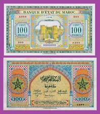 Morocco Maroc,100 Francs 1944 .  UNC - Reproductions