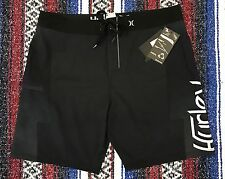 New Hurley Phantom Lostwinds Board Shorts Swim Trunks Surf Black Sz 36 $60