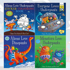 Claire Freedman Sticker Book Collection(Aliens Love Underpants) 4 Books Set New