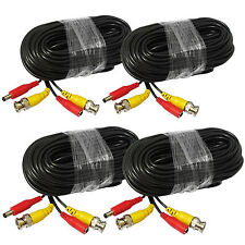 4 X 100' FT SECURITY CCTV CAMERA CABLE SURVEILLANCE WIRE VIDEO BNC CORD POWER