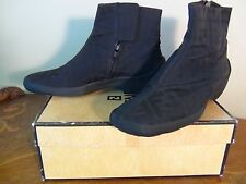 US SELLER Authentic FENDI ZUCCE ANKLE BOOTS NYLON SIZE 36 usable