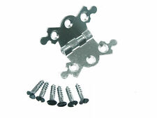 NEW Butterfly Ornate Decorative Jewel Box Hinge 40Mm Bzp PLUS Screws (PACK OF 2)