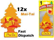 "MAGIC TREE ""LITTLE TREE"" MAI-TAI FRAGRANCE CAR AIR FRESHENERS PACK OF 12"