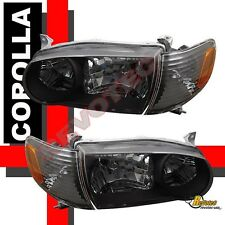 01 02 Toyota Corolla Black Headlights & Corner Signal Lights
