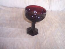 VINTAGE---AVON---CAPE COD---Ruby Red Glass---COMPOTE/WINE GLASS