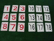18 HOLE MARKERS Metal Signs 4 Golf Course Country Club Pro Shop Driving Range