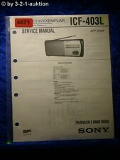 Sony Service Manual ICF 403L 3 Band Radio (#4671)