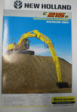 NEW HOLLAND E 215 B MULTIFUNKTION EQUIPMENT PROSPEKT SALES BROCHURE ENGLISCH
