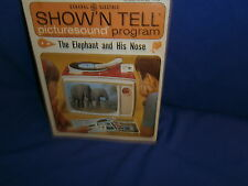 Vintage GE Show'N Tell The Elephant and His Nose Picturesound Program 1964