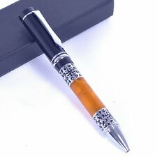jinhao 675 CELLULOID FLOWER PATTERN Ball Point Pen NEW free shipping