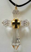 Crystal Cross Necklace Handcrafted With Swarovski Crystal - Cross Ornament
