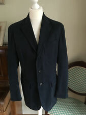 Men's Ralph Lauren POLO Blazer Navy Part Lined Cotton Size 42