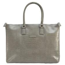 New Designer Laptop Genuine Leather Satchel City Work Handbag Shoulder Bag KHAKI