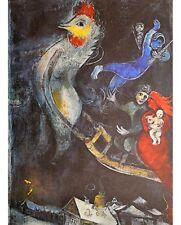 Marc Chagall Das fliegende Pferd Poster Kunstdruck Bild 60x48cm