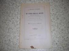 1900.oraison funèbre Pierre-Emmanuel Bouvier / Geay.Tarentaise savoie